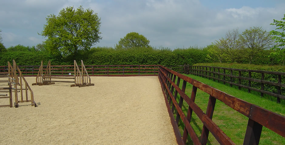 Menage and stud fencing, groundwork and construction